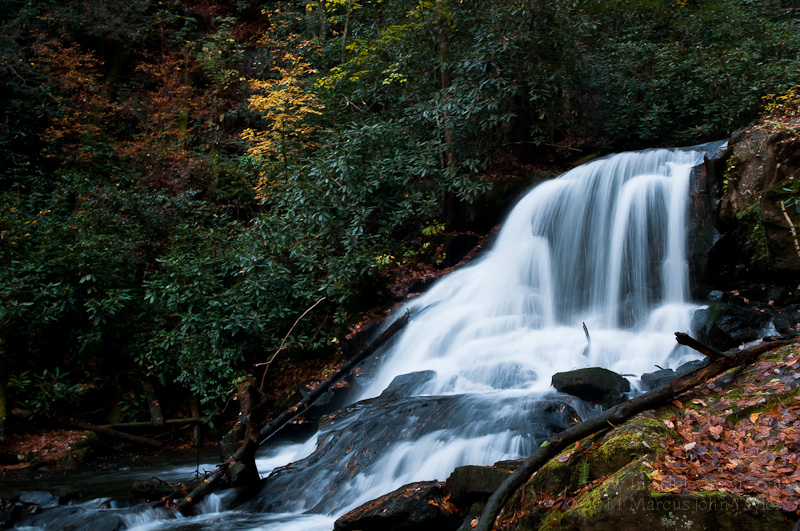Wildcat Creek Falls in autumn