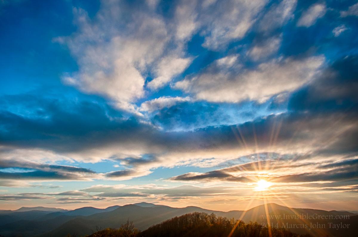 Easter Sunrise from Blackrock Mountain State Park, Georgia.