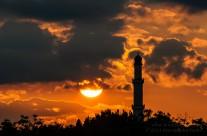 Sunset over Al-Farooq Masjid of Atlanta