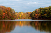 Autumn at Stone Mountain Lake
